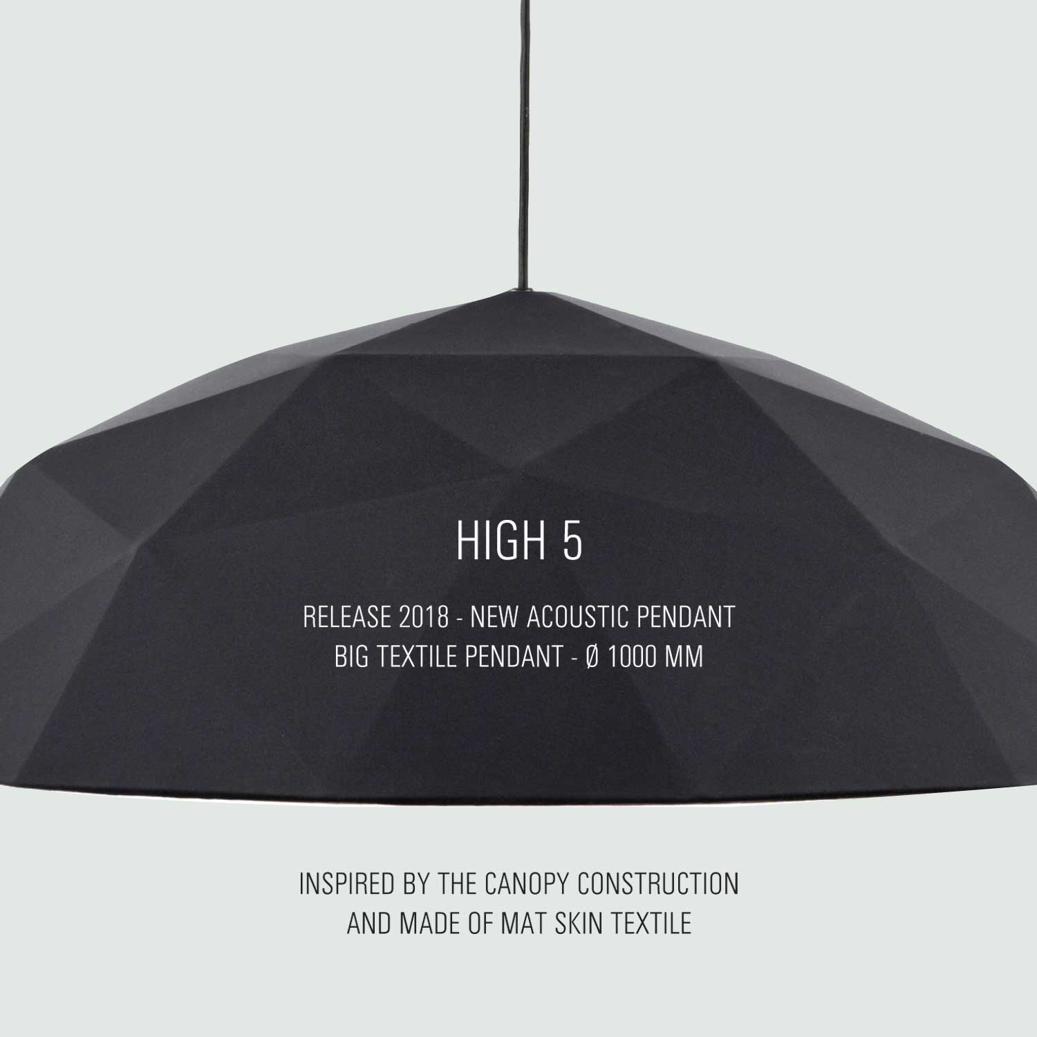 Embacco High 5 acoustic lighting lamp