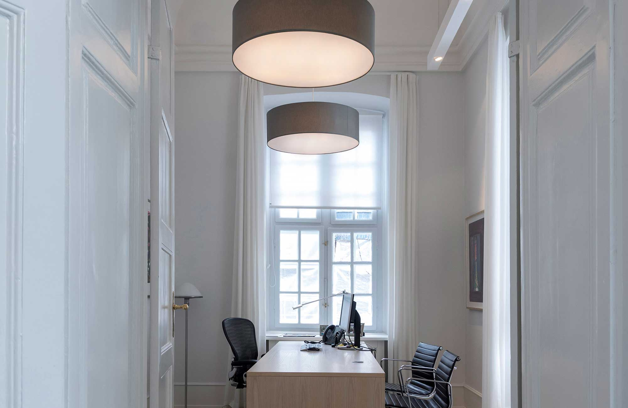 Embacco Lighting fab lamp in office at bredgade 13