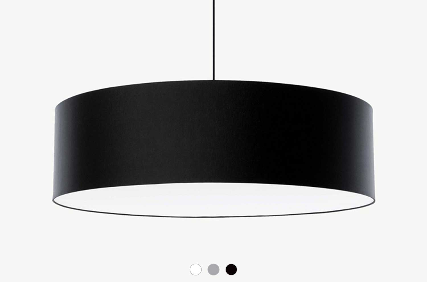Embacco Lighting webshop FAB600 pendant black
