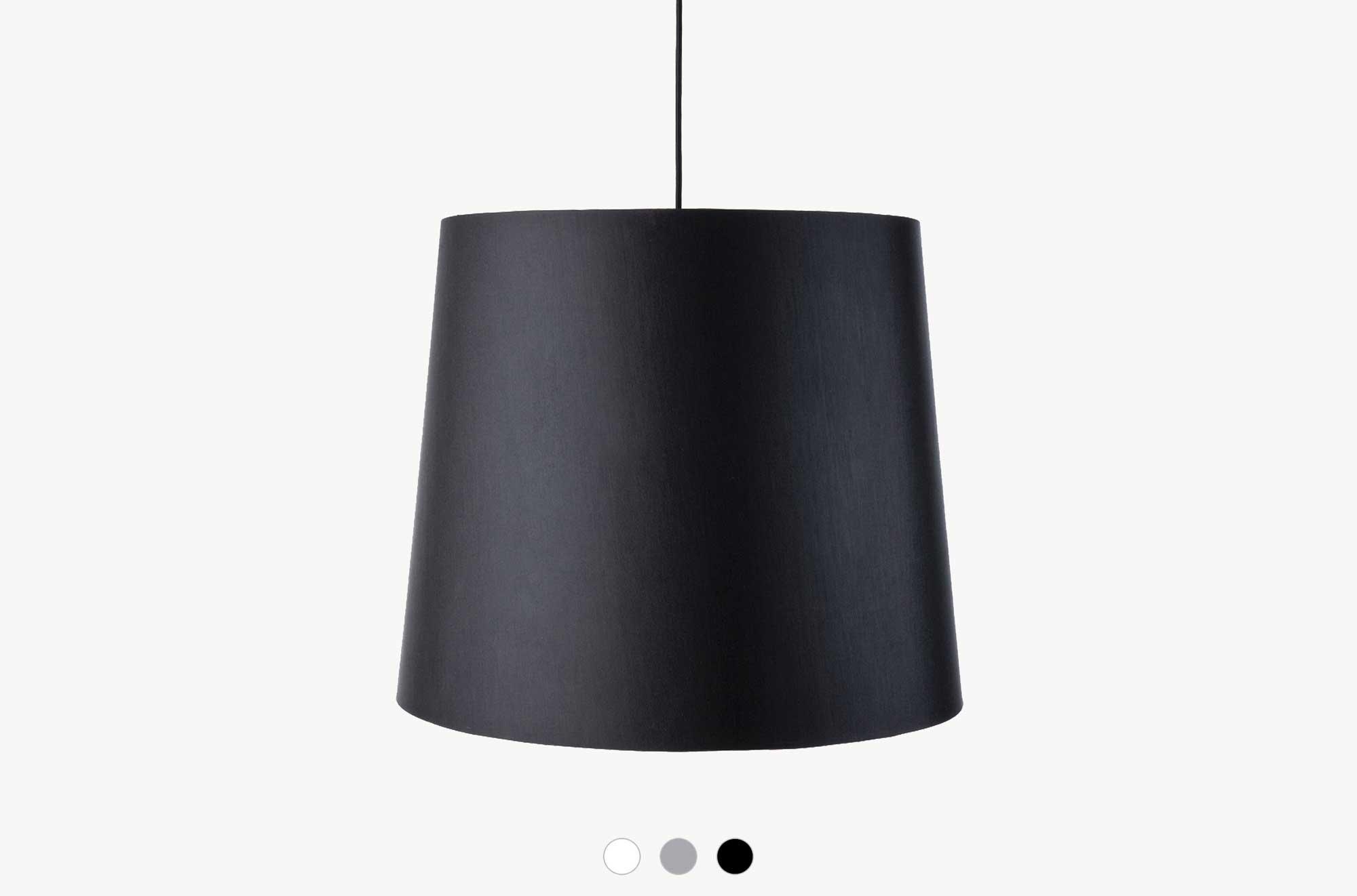 Embacco Lighting webshop Kongfab Black Pendant